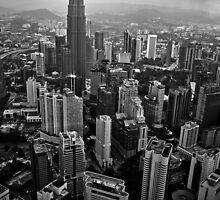Rain over Kuala Lumpur by Duncan  Wright