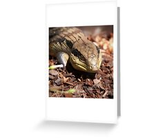 Blue Tongue  Greeting Card