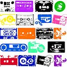 Audio tapes Vintage Color by dadawan