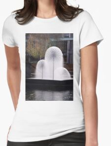 Town Hall Fountain Christchurch Womens Fitted T-Shirt
