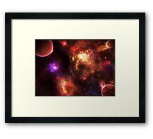 Pulsar Nebula Framed Print