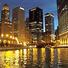 Chicago River Buildings Reflections by Diane Trummer Sullivan