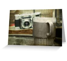 Coffee and Voigtlander Greeting Card