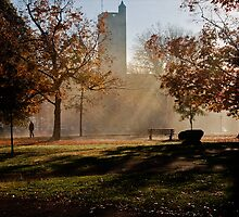 Autumn Morning Outside Pierce Hall by MClementReilly