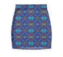Unique Original Teal, Blue Abstract Mini Skirt