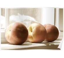 Peaches on the Sill Poster