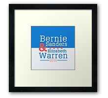2016 Dream Team:  Bernie Sanders & Elizabeth Warren Framed Print
