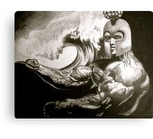 TIKI WARRIOR Canvas Print