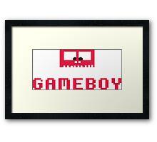 Gameboy Monster Framed Print
