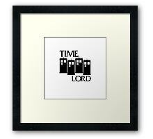 Damaged Doctor - Time Lord Framed Print