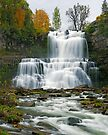 High Flow in Autumn - Chittenango Falls by Stephen Beattie