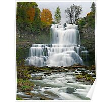 High Flow in Autumn - Chittenango Falls Poster