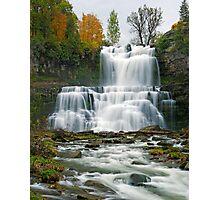 High Flow in Autumn - Chittenango Falls Photographic Print