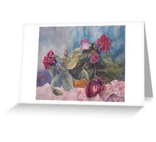 sweet onions and flowers Greeting Card