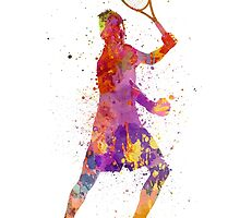 tennis player celebrating in silhouette 01 by paulrommer