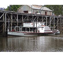Paddle Steamer Photographic Print