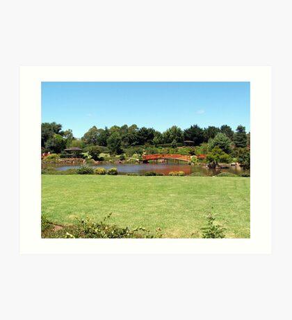 Japanese gardens Toowoomba  Queensland. Aust. Art Print