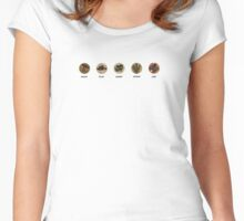 Wood, Clay, Sheep, Wheat, Ore. Women's Fitted Scoop T-Shirt