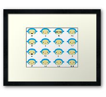 Emoticonal Monkey Framed Print