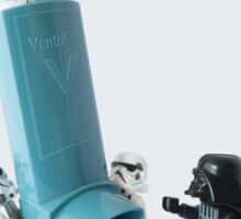 Even dark lords of the Sith can have asthma Sticker
