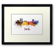 York skyline in watercolor Framed Print