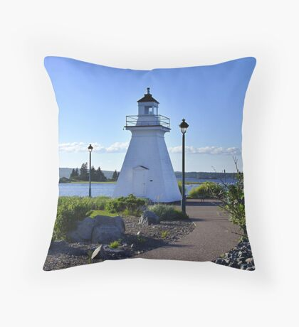 Port Medway Lighthouse Throw Pillow