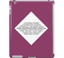 CW Shows iPad Case/Skin
