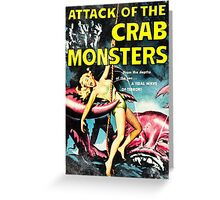 Attack of the Crab Monsters! Vintage  Greeting Card