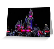 Snow White's Castle at Christmas Greeting Card