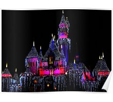 Snow White's Castle at Christmas Poster