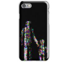 8 bit pixel pedestrians (color on black) iPhone Case/Skin