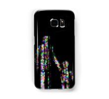 8 bit pixel pedestrians (color on black) Samsung Galaxy Case/Skin