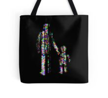8 bit pixel pedestrians (color on black) Tote Bag