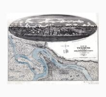 Vicksburg-Fortifications map-Mississippi-1863 One Piece - Long Sleeve