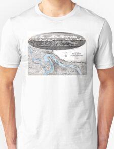 Vicksburg-Fortifications map-Mississippi-1863 Unisex T-Shirt
