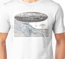 Vicksburg-Fortifications map-Mississippi-1863 Unisex T-Shirt
