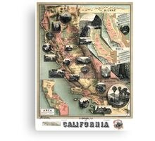California - United States - 1888 Canvas Print