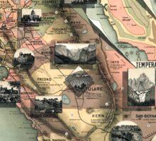 California - United States - 1888 Sticker