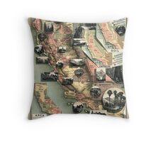 California - United States - 1888 Throw Pillow