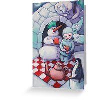 Wintertime picnic Greeting Card