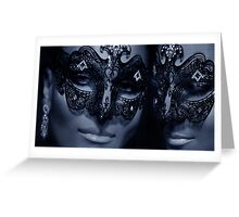 Carnivale Twins Greeting Card