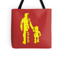 1 bit pixel pedestrians (yellow) Tote Bag