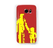 1 bit pixel pedestrians (yellow) Samsung Galaxy Case/Skin