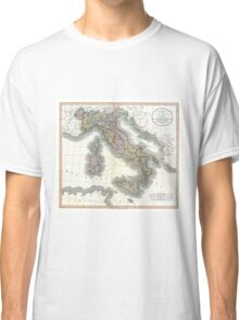 Italy map by John Cary - 1799 Classic T-Shirt