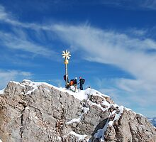 Zugspitze Summit, border of Germany & Austria by Futurama