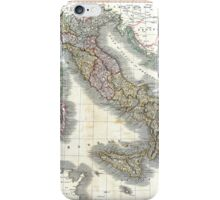Italy map by John Cary - 1799 iPhone Case/Skin