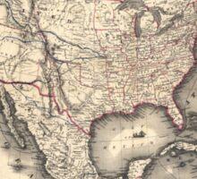 United States in 1849 Sticker