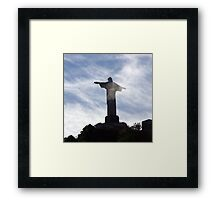 Corcovado in the clouds - a Rio Icon Framed Print