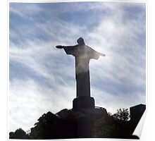 Corcovado in the clouds - a Rio Icon Poster