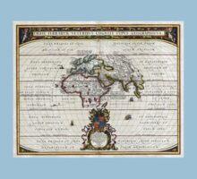 World Map - Geographicus Orbis Terrarum - 1650 One Piece - Short Sleeve